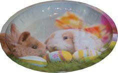 RZOnlinehandel - Metallteller Ostermotiv ca 26,5 cm rund Osterhasen mit Eier Teller, Easter Bunny, Round Round, Easter Activities, Decorating