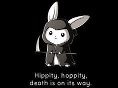 Grim Bunny | Funny, cute & nerdy shirts | TeeTurtle