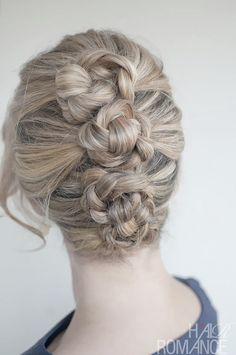 French Twist Pin Braid  / Day 13  -   30 Braids / 30 days - Hair Romance - http://www.hairromance.com/2012/09/30-braids-in-30-days-day-13.html