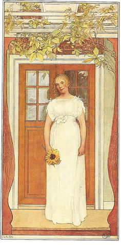 'Eighteen Years Old!', Oil by Carl Larsson Sweden) Carl Larsson, Carl Spitzweg, Arts And Crafts Movement, Museum Of Fine Arts, Large Painting, Love Art, Bunt, Sweden, Illustrators