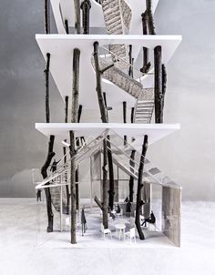"""Forrest tower"" - landscape art project by KATOxVictoria, architects, Copenhagen: http://katoxvictoria.dk/forrest-tower"