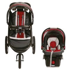 BRAND NEW! Graco Baby/Infant Toddler Jogging Travel System Stroller Car Seat Red - http://baby.goshoppins.com/strollers/brand-new-graco-babyinfant-toddler-jogging-travel-system-stroller-car-seat-red/