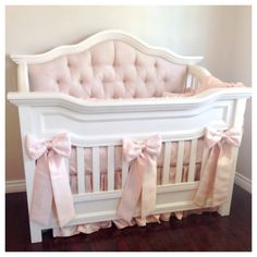 THE DANIKA COLLECTION: Faux Silk and Lace Crib by HugBugBedding