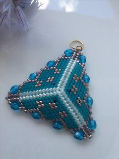 Peyote triangle pendant