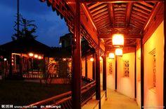 苏州园林夜景