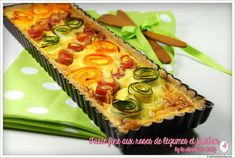 Tarte fine aux roses de légumes et jambon, Recette Ptitchef