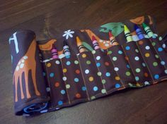 Jungle Crayon Roll by SchwepersStitches on Etsy, $8.00