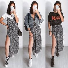ALTGIRL sur Instagram : These are 💥 1,2, or 3?? 🧡 . . . 📸 @paula.amorin . . @acdc #ootd #acdc #rock #ootdfashion #altgirl 2000s Fashion, Ootd Fashion, Fashion 2020, Girl Fashion, Fashion Dresses, Grunge Style, Grunge Hipster Fashion, Rock Style, Aesthetic Fashion