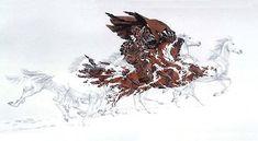 optical illusion art doolittle | Bev Doolittle Horse Art | The Equinest