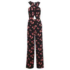 Buy Miss Selfridge 90s Cutout Floral Jumpsuit, Assorted