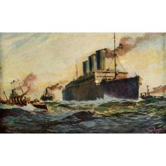 Nations at War 1917 Heavily laden with US Troops Canvas Art - Fred Hoertz (24 x 36)