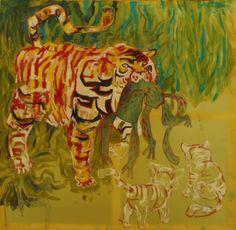 #Tygrys #z #upolowaną #małpą #Tiger #with #hunted #monkey Szymon Szlec http://szszymon.blogspot.com/