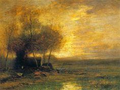 John Francis Murphy, American Tonalist, oil on canvas