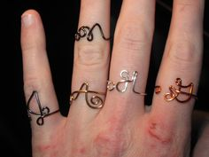 Wire Wrapped Single Initial Thicker Gauge Adjustable by 1ofAkinds