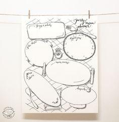 DOODLE Party Menu Planner / Organizer Printable от SkyGoodies