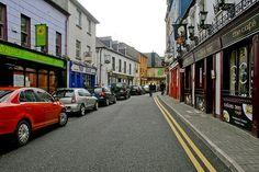 Ireland, row housing with very narrow streets