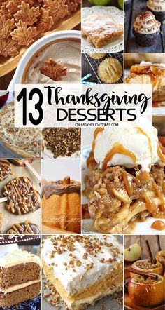 Best Thanksgiving Desserts to please everyone on your guest list. Pies & cakes, apple & pumpkin & so much more. Perfect for all your holiday entertaining.