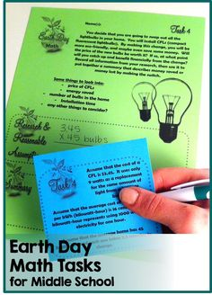 "Open- Ended Real World Math Tasks for Earth Day -- all about Going ""Green"""