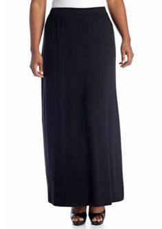New Directions  Plus Size Black Maxi Skirt