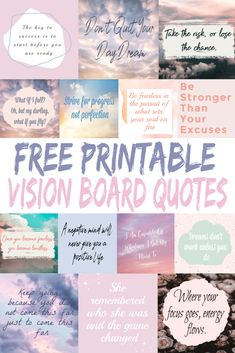 How To Make a Vision Board Plus Free printable Quotes - Crazy Mompreneur Free Printable Quotes, Free Printables, Vision Board Template, Creating A Vision Board, Visualisation, Humor, Blog, Board Ideas, Inspiration Boards