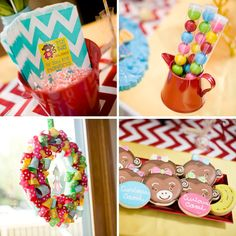 A girly twist on Curious George party