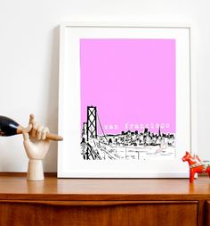 San Francisco in pink