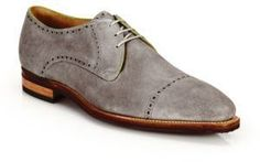 Corthay Ike Suede Lace-Up Derby Oxfords