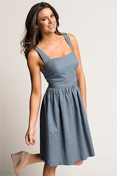 Emerge Linen Fit And Flare Dress