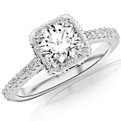 0.85 Carat Round Cut/Shape 14K White Gold Stunning Vintage Halo Style Diamond Engagement Ring With Milgrain ( J-K Color , I1-I2 Clarity ) Chandni Jewels,http://www.amazon.com/dp/B00BVPSIN4/ref=cm_sw_r_pi_dp_MZsWrb1Z6XQX2D5H