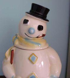 Frosty Snowman Cookie Jar - Roseville