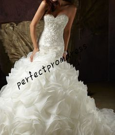 2014 new selling the new bud silk fish tail wedding dress on Etsy, $289.00