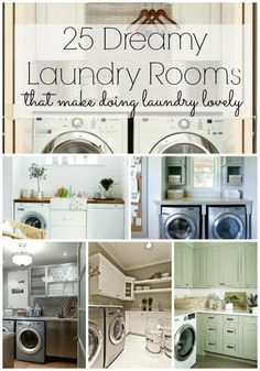 25 Amazing Laundry Rooms! I have an odd obsession with laundry rooms