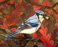 Autumn Blue Jay - Delphi Stained Glass