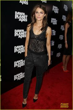 Keri Russell Is a Sheer Attraction at 'Dawn Of The Planets Of The Apes' Premiere!