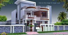 House Front Elevation Designs for Double Floor In India 2018 . House Front Elevation Designs for Double Floor In India 2018 . Kerala House Front Elevation Designs for Double Floor Best Modern House Design, Duplex House Design, House Front Design, Modern House Plans, Indian Home Design, Kerala House Design, Independent House, Front Elevation Designs, House Elevation