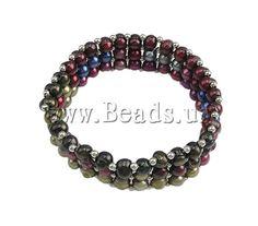 Pearl Bracelet, stretch bracelet, colorful style, 5-6mm, Sold per 6.5-Inch Strand    www.beads.us