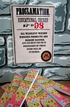 Hogwarts School of Witchcraft & Wizardry party / Weasley's Wizard Wheezes