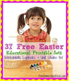 37 Free Easter Educational Printable Sets (Worksheets, Lapbooks, and Unit Studies too!)