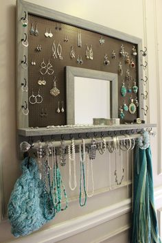 You Pick The Stain, Mesh And Hook Color, Leaf Trim And Mirror Series Wall…