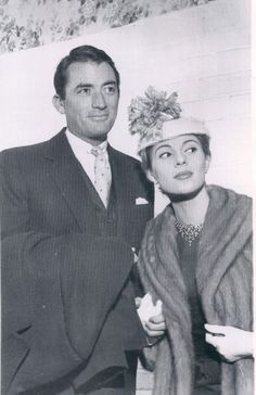 Gregory Peck and wife Veronique
