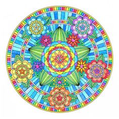 Flowers of Love Mandala, Colored by candy-hippie on DeviantArt