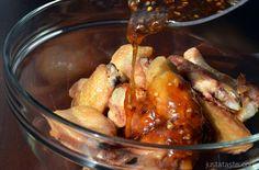 Crispy Baked Orange Chicken Wings | recipe via justataste.com