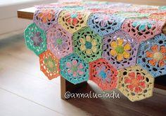 crochet flower blanket, flower tablecloth, crochet, crochet patterns, flower afghan, flower motif, daisy blanket, PDF Instant Download