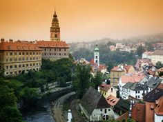 View of the Cesky Krumlov Castle Seen Across the Town, Cesky Krumlov, Czech Republic Travel Around Europe, Cities In Europe, Europe Places, Bohemia Photos, Danube River Cruise, Future Travel, Beautiful Places To Visit, Image Photography, Czech Republic