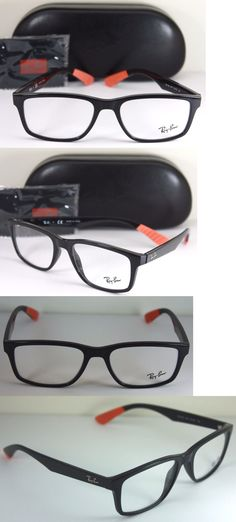 242505d375e ... italy fashion eyewear clear glasses 179244 new authentic ray ban rx 7063  5417 black and orange