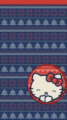 #digitalcutewalls Hello Kitty Backgrounds, Hello Kitty Wallpaper, Flower Backgrounds, Wallpaper Backgrounds, Iphone Wallpaper, Hello Kitty Christmas, Christmas Cats, Art Sayings, Hello Kitty Images