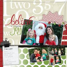 Believe In The Joy of Christmas - Be Merry Digital Scrapbook Layout Project Idea from Creative Memories DIRECTIONS: http://projectcenter.creativememories.com/photos/digital_easter/believe-in-the-joy-of-christmas-be-merry-digital-scrapbook-layout-project-idea.html