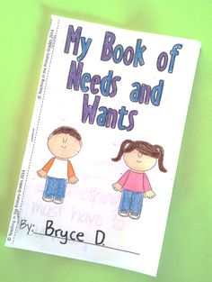 Needs and Wants Social Studies Unit. Includes fun interactive emergent reader. $