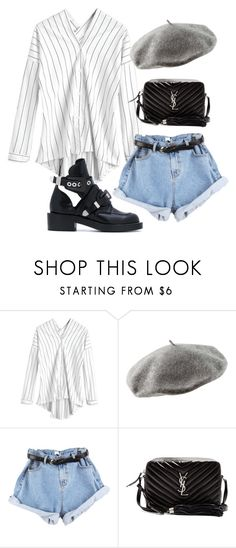 """Untitled #5928"" by lilaclynn ❤ liked on Polyvore featuring H&M, Yves Saint Laurent, Balenciaga, YSL, HM, saintlaurent and yvessaintlaurent"