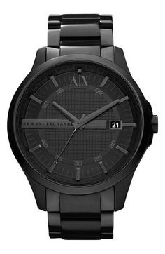 AX Armani Exchange Bracelet Watch, 46mm available at #Nordstrom